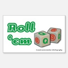 Roll the Q Dice Rectangle Decal