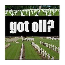 got oil?  Tile Coaster