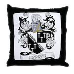 Browne Coat of Arms Throw Pillow