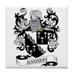 Browne Coat of Arms Tile Coaster