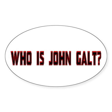 Who Is John Galt Oval Sticker