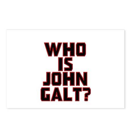Who Is John Galt Postcards (Package of 8)