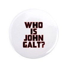"""Who Is John Galt 3.5"""" Button (100 pack)"""