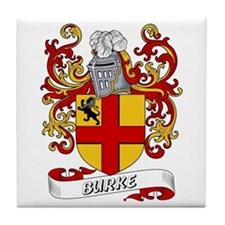 Burke Coat of Arms Tile Coaster