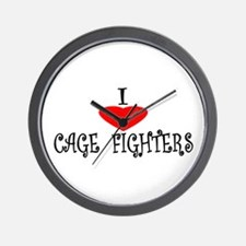 I Love Cage Fighters Wall Clock