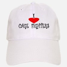 I Love Cage Fighters Baseball Baseball Cap