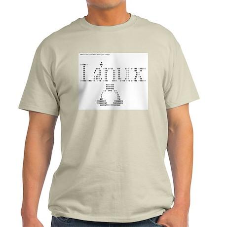 Linux ASCII Ash Grey T-Shirt