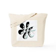 Yin yang flower Tote Bag
