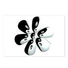 Yin yang flower Postcards (Package of 8)