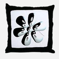 Yin yang flower Throw Pillow