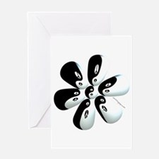 Yin yang flower Greeting Card
