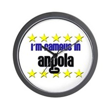 I'm Famous in Angola Wall Clock