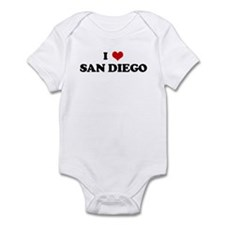 I Love SAN DIEGO Infant Bodysuit