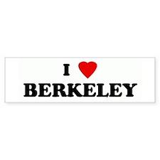 I Love BERKELEY Bumper Bumper Sticker