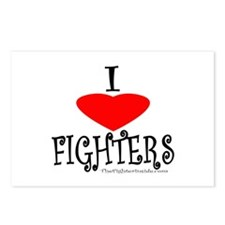 I Love Fighters Postcards (Package of 8)