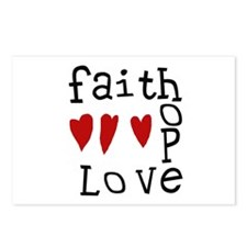 Faith, Love, Hope Postcards (Package of 8)