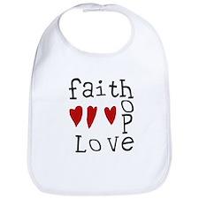 Faith, Love, Hope Bib
