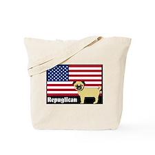 Republican pug Repuglican Tote Bag