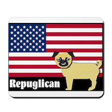 Republican pug Repuglican Mousepad