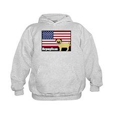 Republican pug Repuglican Hoodie