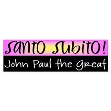 Santo Subito Bumper Sticker #1 by Covenant Gear