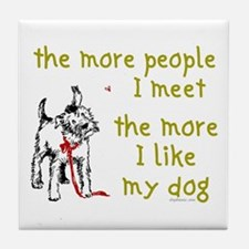 More People (Dog) Tile Coaster
