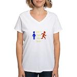 Don't Tase Me Women's V-Neck T-Shirt