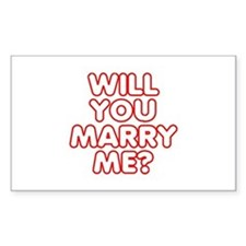 Will You Marry Me? Rectangle Decal
