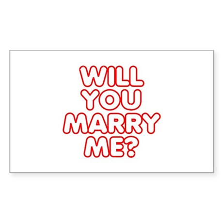Will You Marry Me? Rectangle Sticker