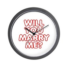Will You Marry Me? Wall Clock