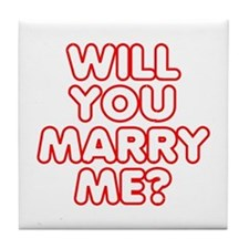 Will You Marry Me? Tile Coaster