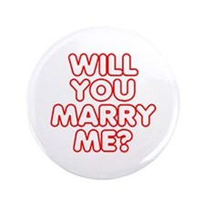 "Will You Marry Me? 3.5"" Button (100 pack)"