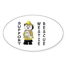 Nat'l Westie Rescue Gold Logo Oval Decal