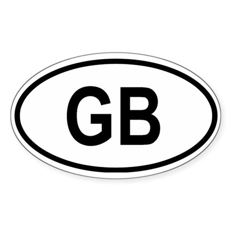 Great Britain Oval Sticker