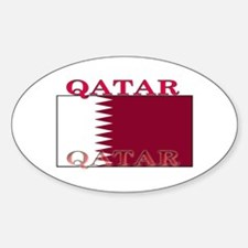 Qatar Qatari Flag Oval Decal