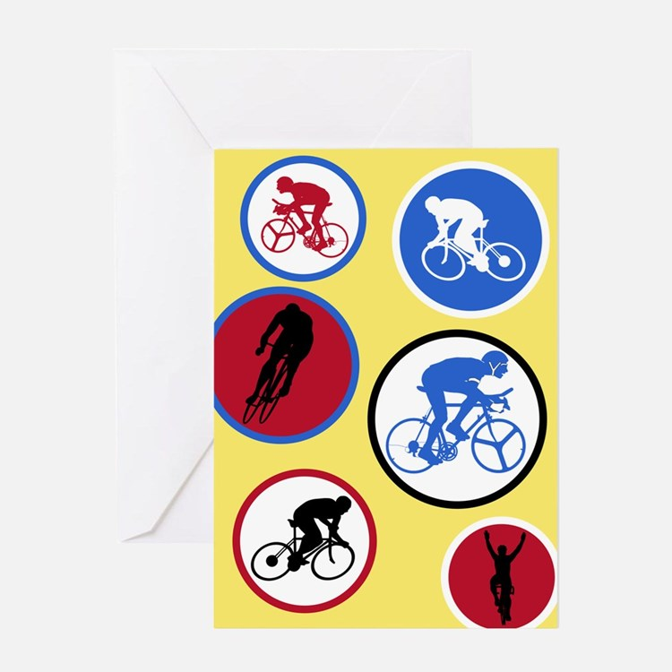 Cycling Circles - Birthday Card