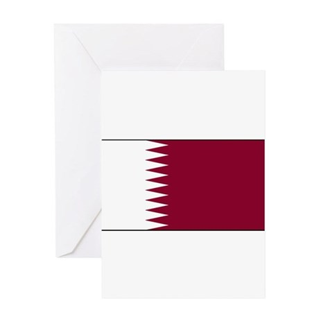 Qatar Qatari Blank Flag Greeting Card