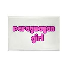 Paraguayan Girl Cute Rectangle Magnet