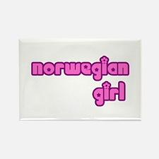 Norwegian Girl Cute Rectangle Magnet