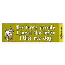 More People (Dog) Bumper Bumper Sticker