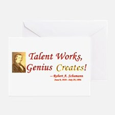 Robert Schumann - Talent and Genius Greeting Cards