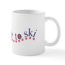 Love to ski Mug