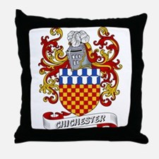 Chichester Coat of Arms Throw Pillow