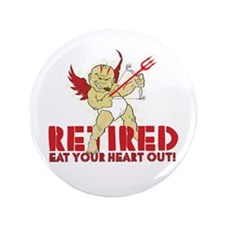 "Cupid Retired 3.5"" Button"