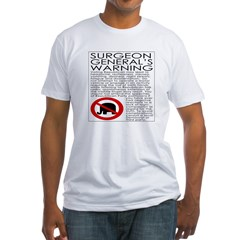 Republican Warning (Fitted T-Shirt)