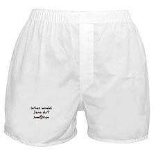 WWJD Boxer Shorts
