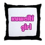 Kuwaiti Girl Cute Kuwait Throw Pillow