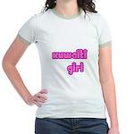 Kuwaiti Girl Cute Kuwait Jr. Ringer T-Shirt
