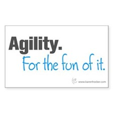 Agility. For the Fun of It Rectangle Decal