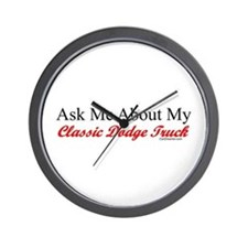 """""""Ask About My Dodge Truck"""" Wall Clock"""